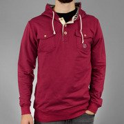 Sweatshirt HOOD POCKET Maroon